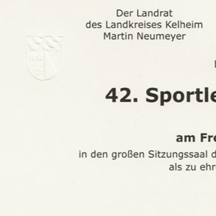 42. Sportlerehrung auf Kreisebene